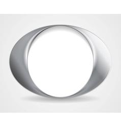 Abstract circle O shape logo design vector