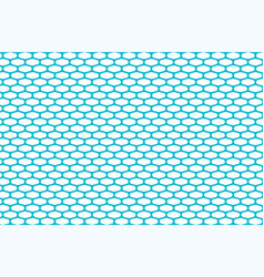 abstract pattern blue net on white vector image