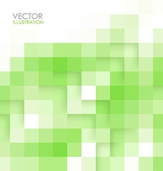 Abstract square green background vector image