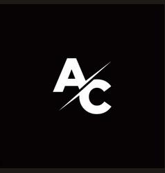 Ac logo letter monogram slash with modern logo vector
