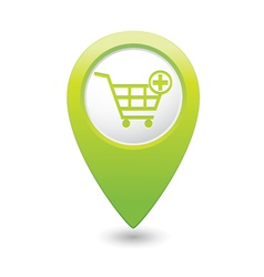 Add to basket green map pointer vector