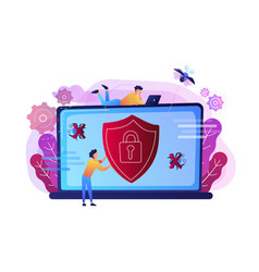 Antivirus software concept vector