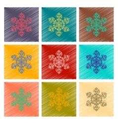 Assembly flat shading style snowflake vector