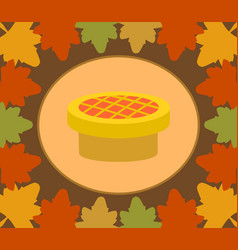 autumn thanksgiving day background with pie vector image