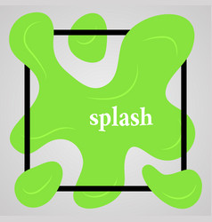big green splash with lots of small splashes vector image