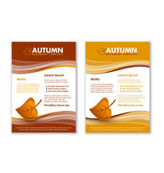 brown and yellow seasonal autumn document vector image