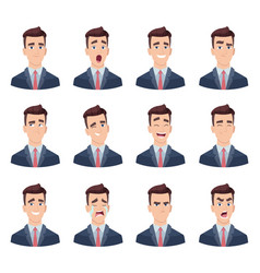 businessman emotions male characters with various vector image