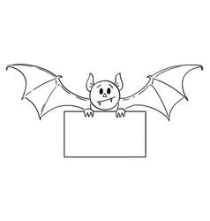 Cartoon scary cute halloween monster vector
