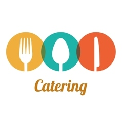 Catering related icons emblem vector