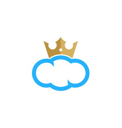 cloud king logo icon design vector image