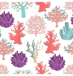 Corals seamless pattern vector