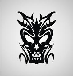 Demon Head Tribal vector image