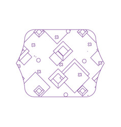 Dotty shape quadrate with geometric style graphic vector