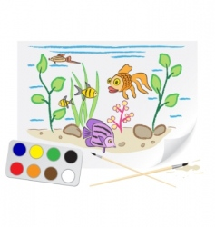 drawing aquarium vector image