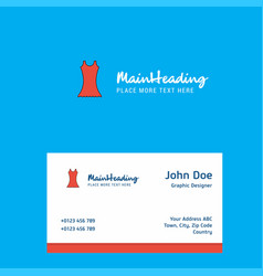 dress logo design with business card template vector image