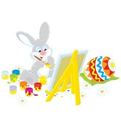 Easter Bunny artist vector image
