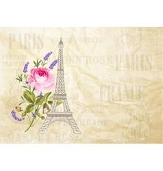 Eiffel tower card vector