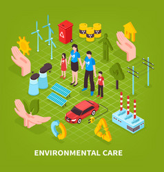 Environmental care green background vector
