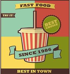 Fast food menu Hot Drink vector image