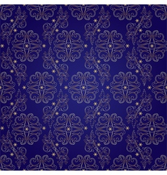 Floral vintage seamless pattern on violet vector image