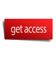 get access red paper sign on white background vector image
