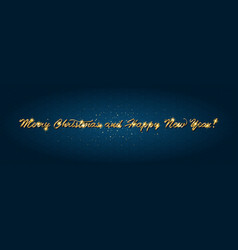 golden text on dark background vector image