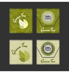Green tea bag vector