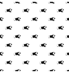 Hamster pattern simple style vector image