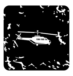 Helicopter icon grunge style vector