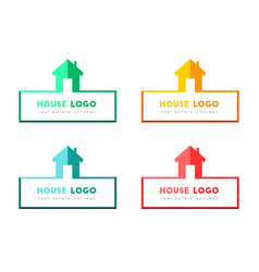 House and real estate logo design vector