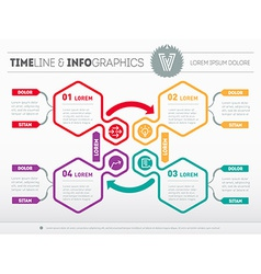 Info graphic technology process web template vector