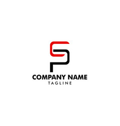 initial letter sp logo template vector image