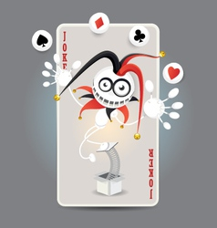 Joker Harlequin Card vector image