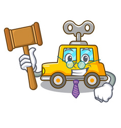 Judge clockwork toy car isolated on mascot vector