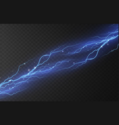 lightning on a transparent vector image
