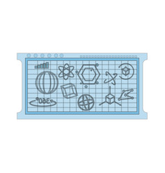 Mathematical calculations on blue board icon image vector