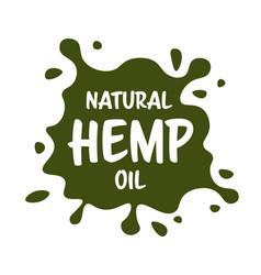 Medical cannabis or marijuana leaf badge hemp vector
