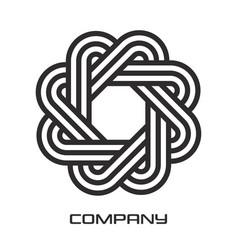 Modern geometric figure logo vector