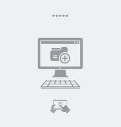 new folder flat icon vector image