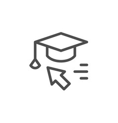 online education line icon vector image