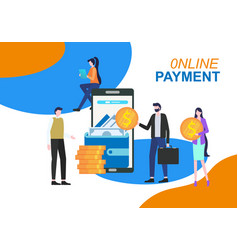 online payment mobile phone app electronic wallet vector image