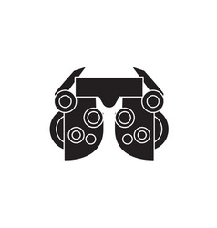 Optometry black concept icon optometry vector