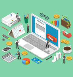 payroll flat isometric concept vector image