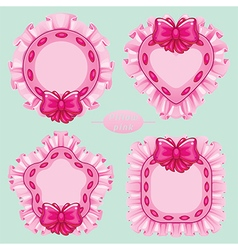 Pillow pink set vector