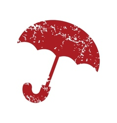 Red grunge umbrella logo vector