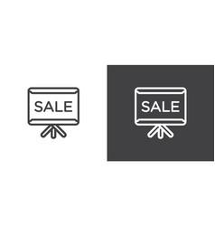 set flip chart billboard icons icons data vector image