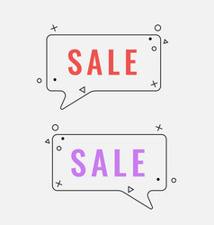 simple sale square speech bubbles with geometric vector image