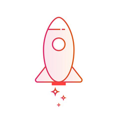 start up business outlined icon rocket startup vector image