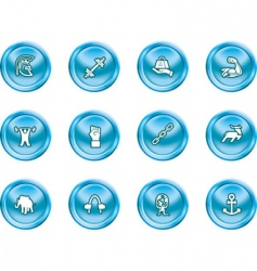 Strength concept icon set vector