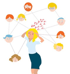 Stress about family members vector image